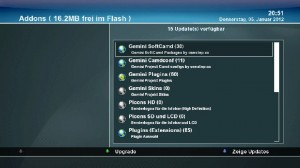 Auswahl CAM-Addon Gemini Dreambox