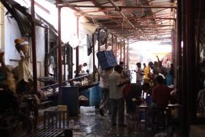 Indische Metzgerei, Crawford Market Mumbai, Abteilung Huhn