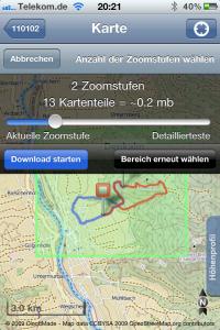 Trails Kartendaten downloaden, keine Datenverbindung im Ausland notwendig