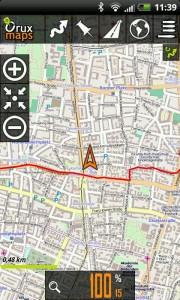 OruxMaps gps Tracker für Android HTC