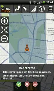 OruxMaps online Karten offline auf Android HTC speichern