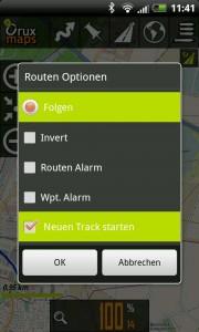 OruxMaps Track GPX anzeigen