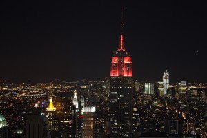 Top of the Rock: Blick zum Empire State building