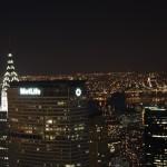 Top of the Rock: Blick nach Osten, Chrysler buildiung