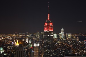 Top of the Rock: Blick nach Süden, Empire State building