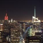 Top of the Rock: Blick nach Süden, Empire State building und Manhatten