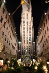 Weihnachtliche Stimmung am RockefellerCenter