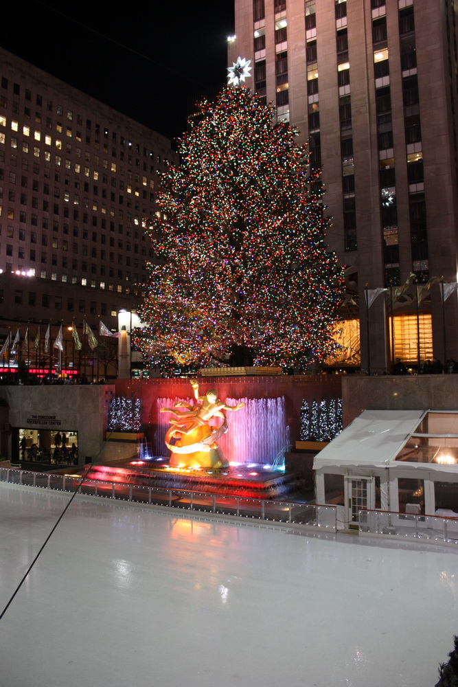 Ein besuch wert weihnachtsbaum und eislaufen am rockefeller center - Weihnachtsbaum rockefeller center ...